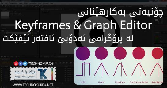 چۆنیەتی بەکارهێنانی Keyframes & Graph Editor لە پرۆگرامی ئافتەر ئێفێکت