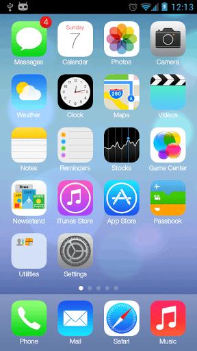 iLauncher v3.4.0.2 Apk بهرنامه بۆ ئهندۆرید :: شێوهی مۆبایلهكهت بكه به ئایفۆن